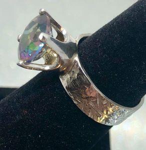 Mystic Topaz set ring