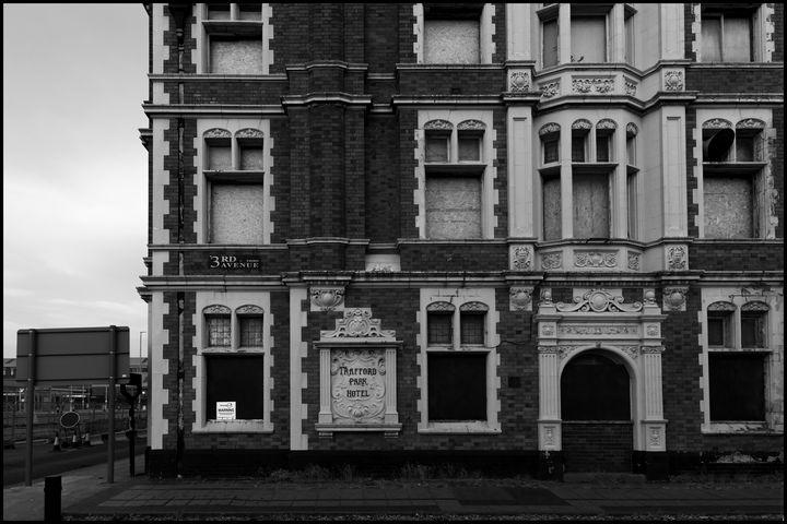 Old Trafford Hotel - B&W fine art prints