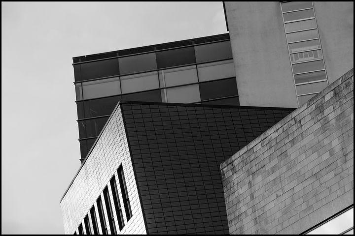 Four buildings - B&W fine art prints