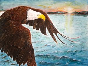 Eagle in Flight - John Peter Overholt