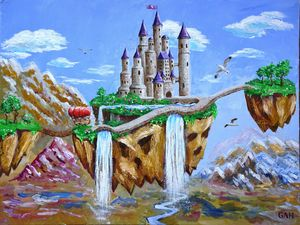 A hovering castle