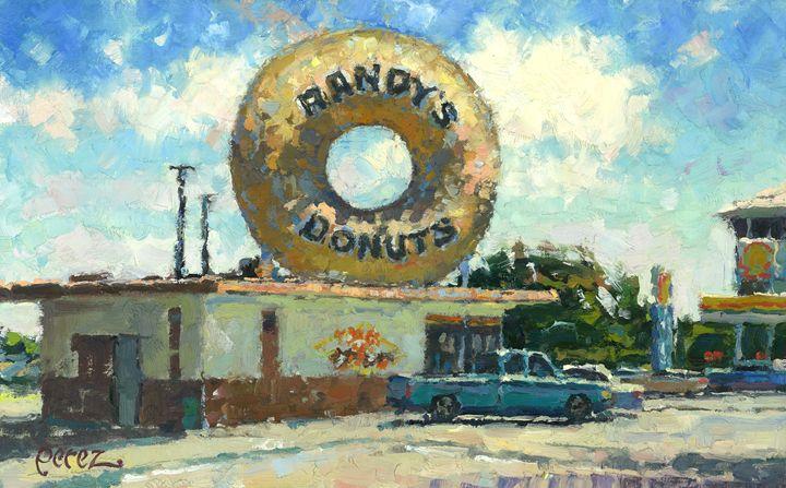 Randy's Donuts - Fern Lawrence Perez Impressionist Art