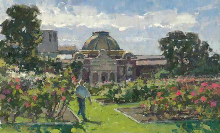Exposition Park, Los Angeles - Fern Lawrence Perez Impressionist Art