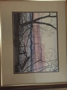Craig Routh hand colored print