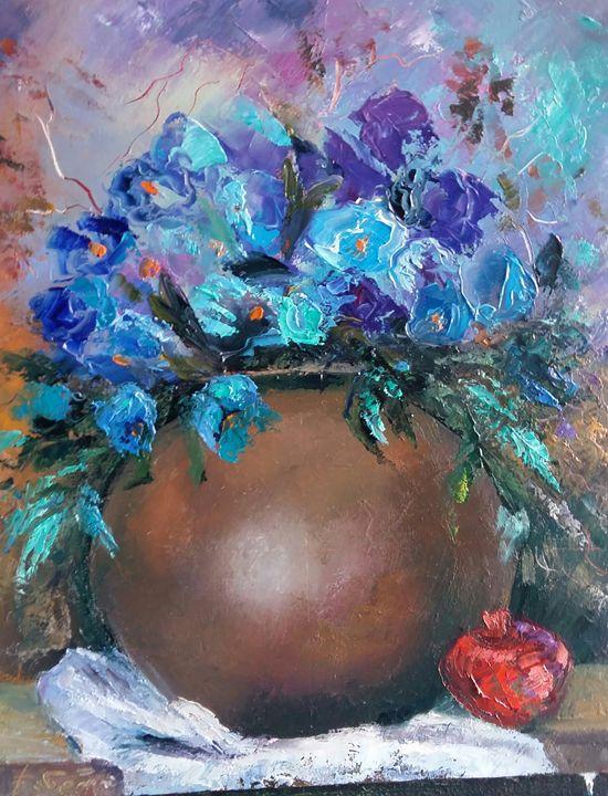 Blue Flowers - Archpriest  Andria