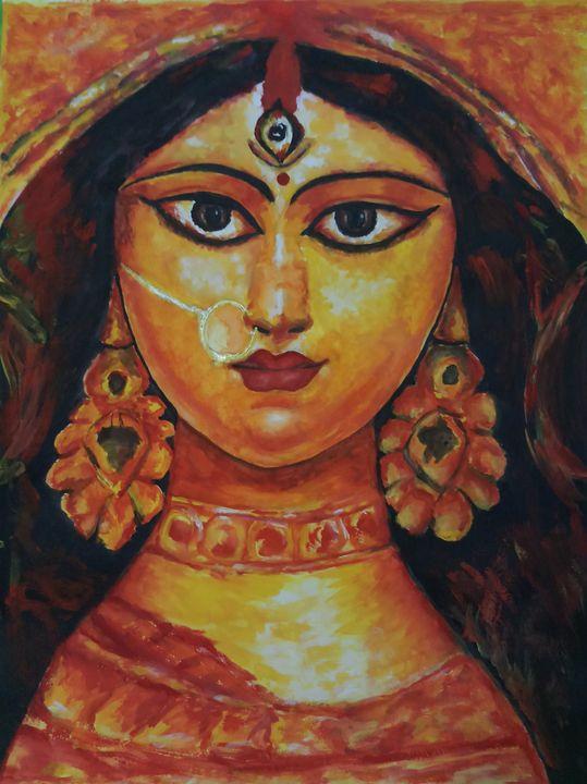 Goddess Maa Durga Painting - Teena's Art Gallery