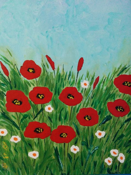 Poppy flowers - LindArt  Studio