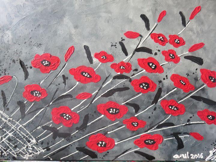 poppy flowers - LindArt  Studio