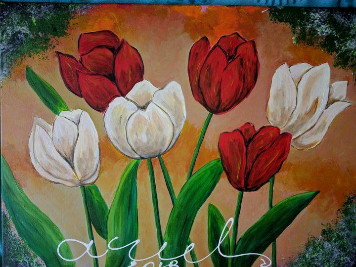 Tulips blooming - LindArt  Studio