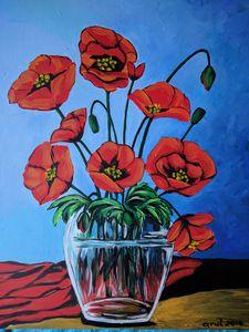 Poppies,still life - LindArt  Studio