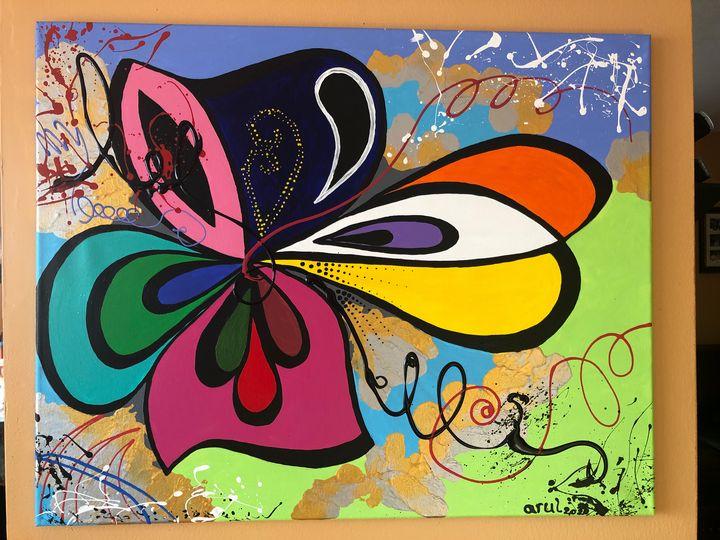 Life is beautiful 2,abstract - LindArt  Studio