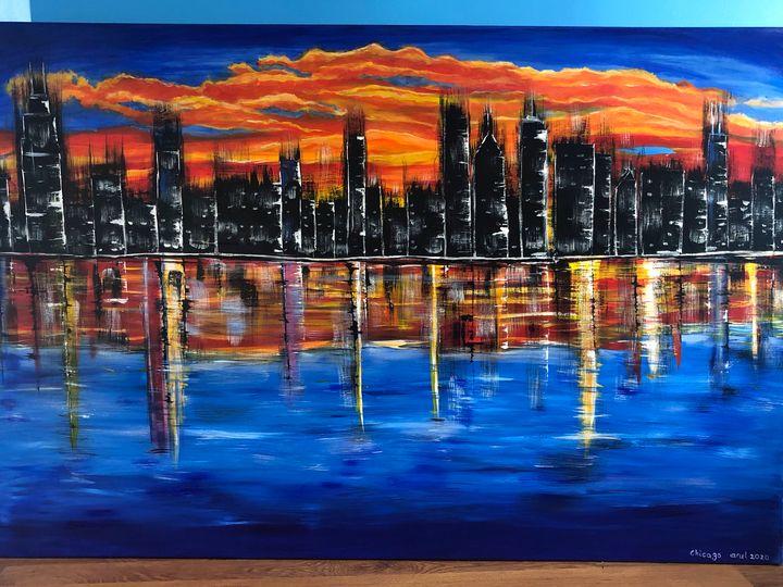 Chicago lights - LindArt  Studio