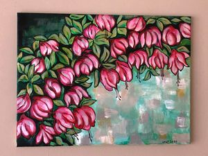 Pink flowers blooming - LindArt  Studio
