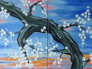 Plum tree blooming - LindArt  Studio