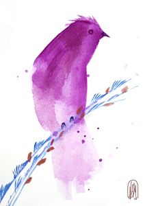 watercolor bird