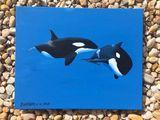 Flirt  Acrylics on canvas  16X20 Ori