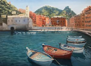 Fishing Boats in Vernazza