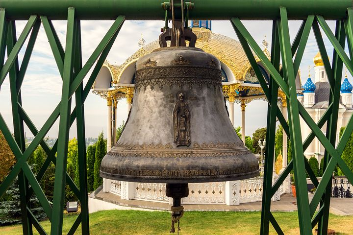 Bell in Pochayiv standing in the yar - The most