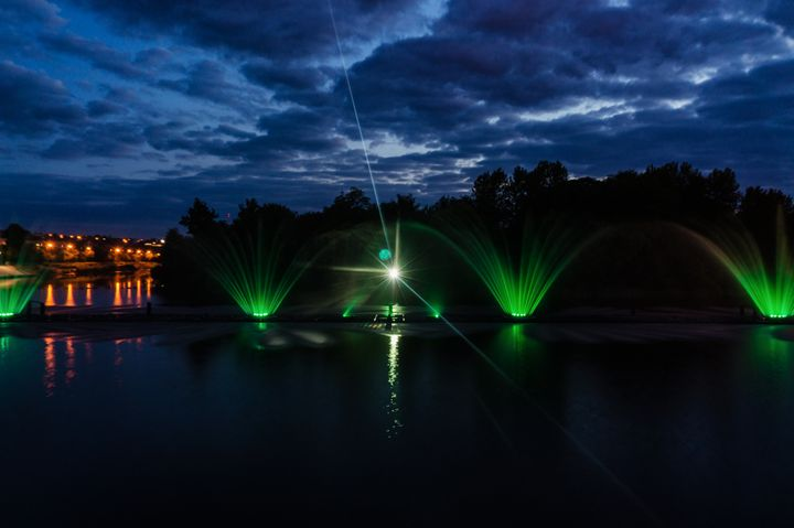 Night magic show of fountains on the - The most