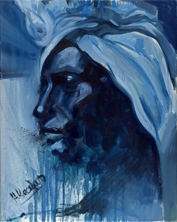 Woman in blue - Artan Kunst