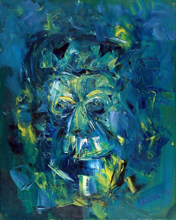 Blue monkey - Artan Kunst
