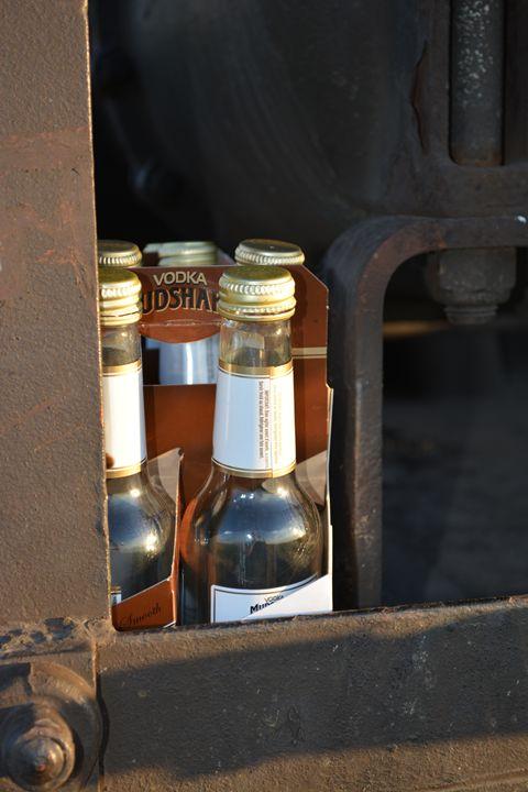 Bottles On A Train - Tony Alexander Photography