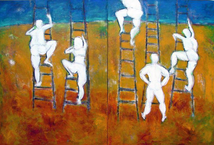 Climbing the trapeze - Ricardo Trotti Art