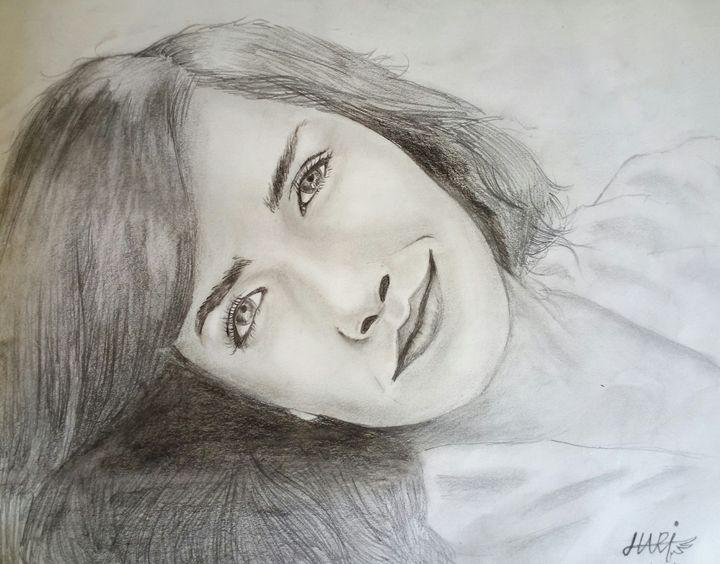 Emma Watson potrait graphite - KRENIX
