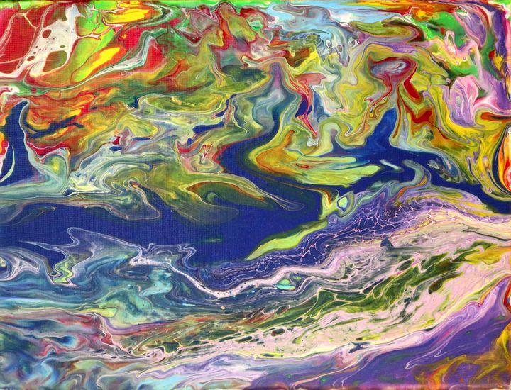 Purple River - Syona Fine Art
