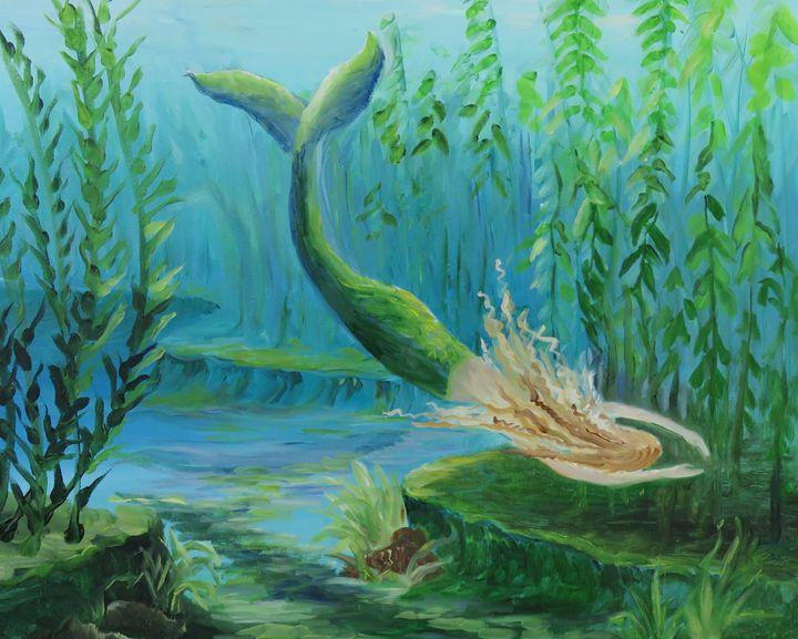 mermaid in kelp - verna dodge