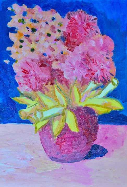 Oil flowers vase - Cristina Vivi