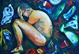 Human Waste in Acrylics