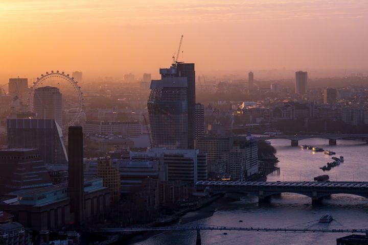 London cityscape at sunset - Milton Cogheil Photography
