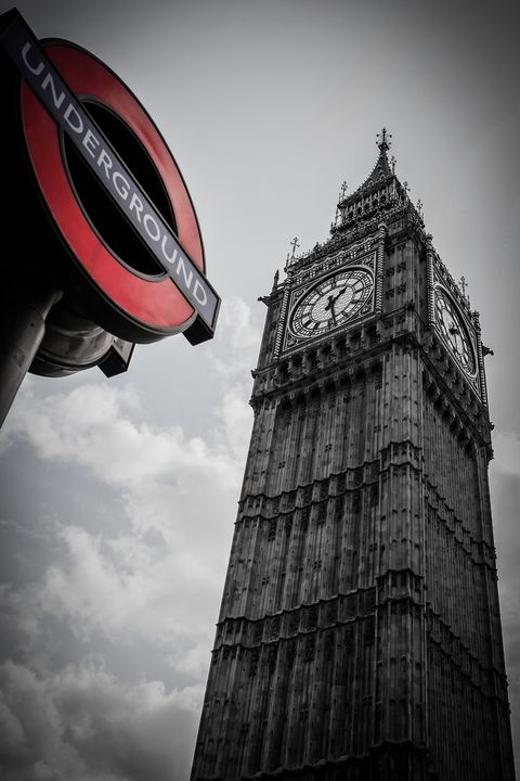 Big Ben and the Underground sign - 2 - Milton Cogheil Photography