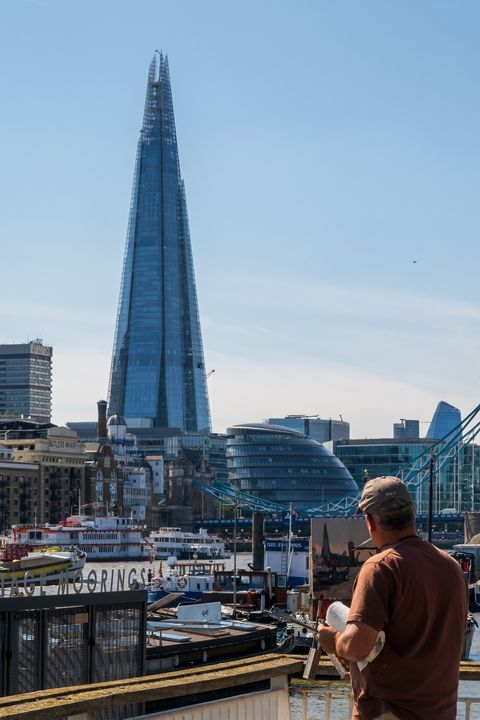 Painting the Shard - Milton Cogheil Photography