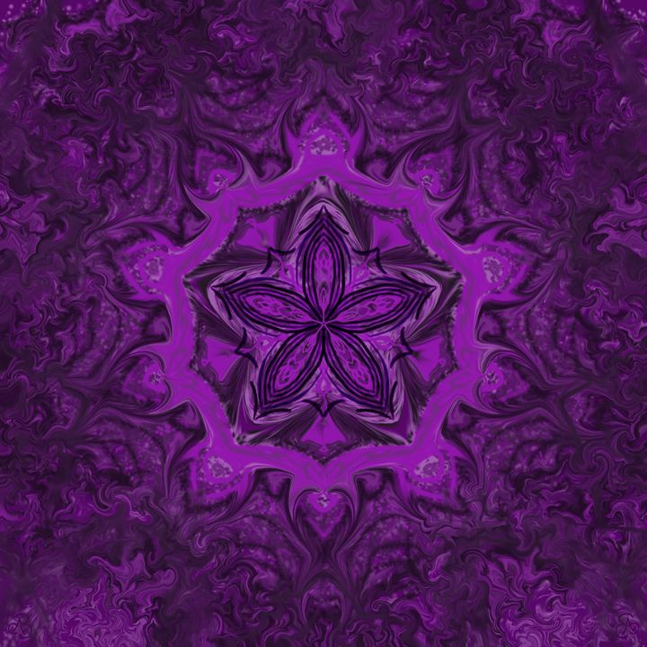 Purple flower 2 - House of Nika