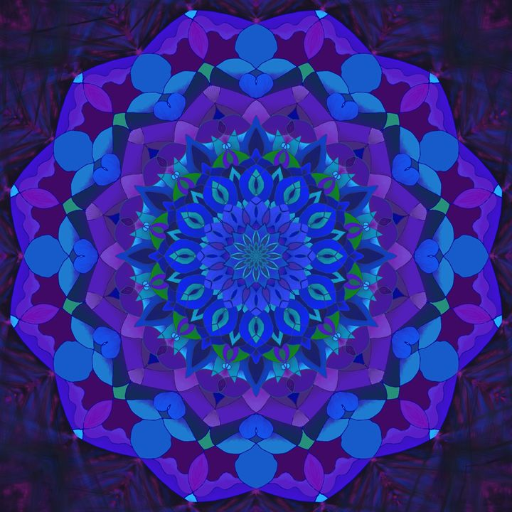 Blue Mandala - House of Nika