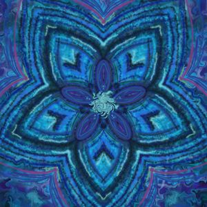 Blue stripe star flower