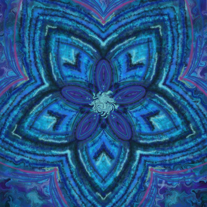 Blue stripe star flower - House of Nika
