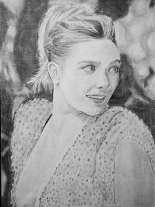 """Portrait of """"Elizabeth olsen"""" - Raza"""