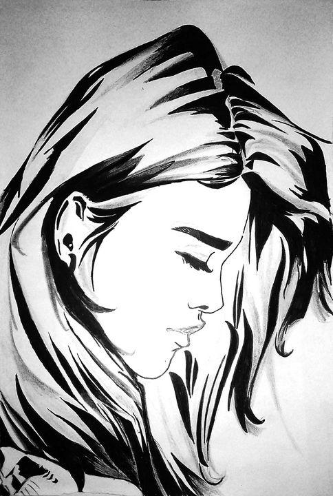 Worried girl - Raza