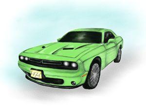 Dodge Challenger - Digital art by Kel