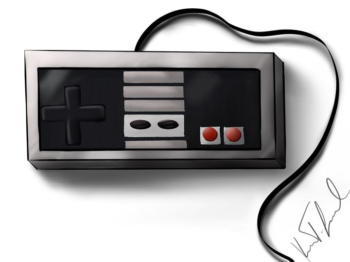 NES controller - Digital art by Kel