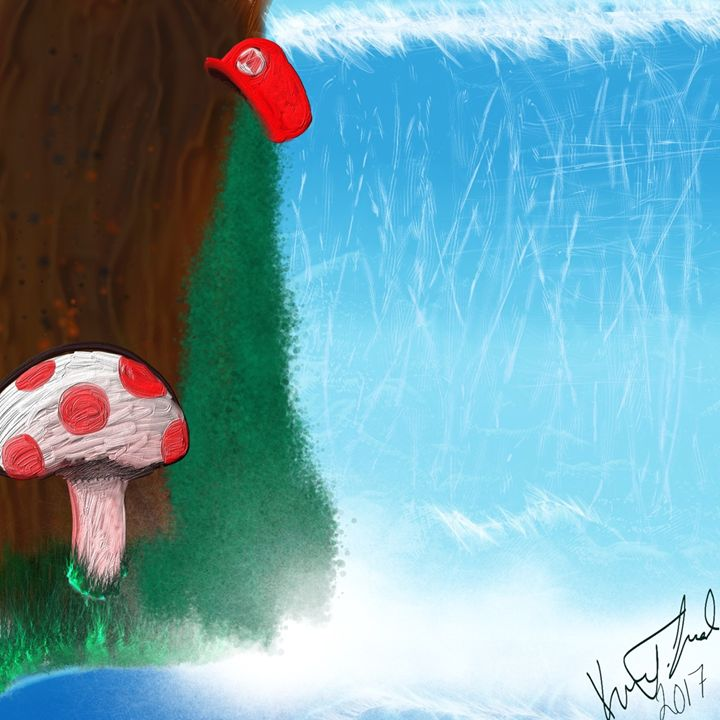 Where's Mario? - Digital art by Kel