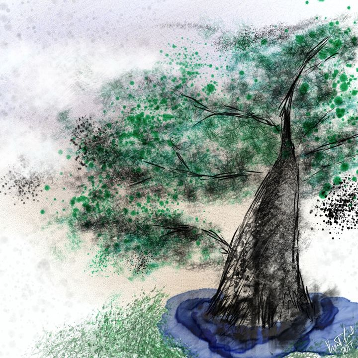 Abstract Bonsai - Digital art by Kel