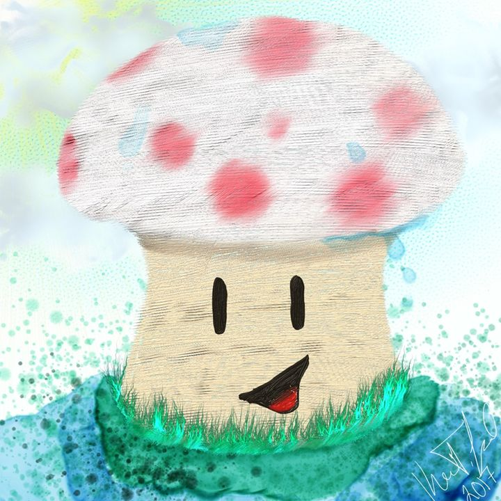 Rainy toad - Digital art by Kel