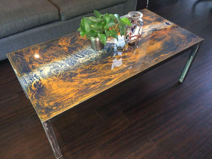 Abstract Metal Coffee Table - Paulo Silva Art & Design
