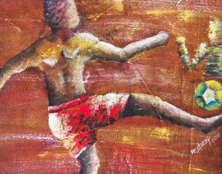 The water Soccer player. - Destreet Art Gallery Africa