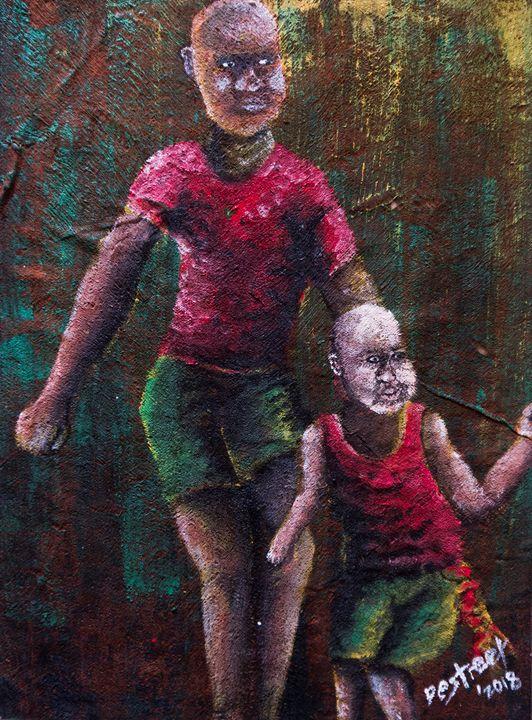 The Dancing Ghetto kids - Destreet Art Gallery Africa