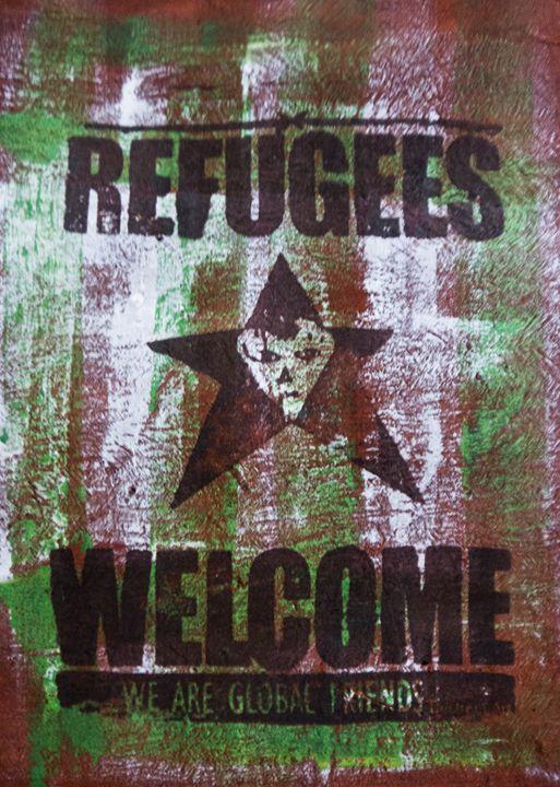 Refugees welcome - Destreet Art Gallery Africa